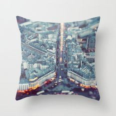 Paris, City of Lights. Throw Pillow