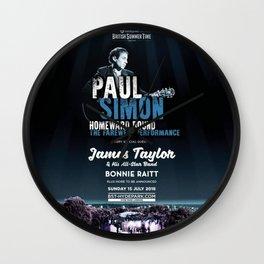 PAUL SIMON BRITISH SUMMER TIME TOUR DATES 2019 KAMBOJA Wall Clock