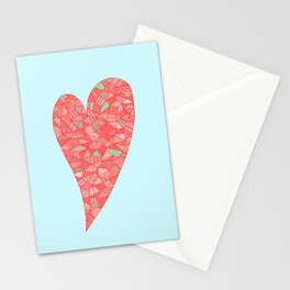 Puzzled Heart Stationery Cards
