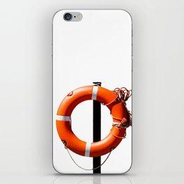 Orange live saving ring iPhone Skin