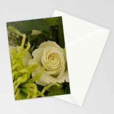 White and Green Arrangement Stationery Cards