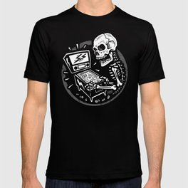 Skeletal When Lit - Pinball Skull T-shirt
