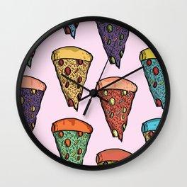 Wonky Pizzas! Wall Clock
