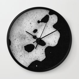 White mousse Wall Clock