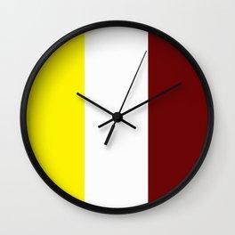 Team Colors 7 ...Maroon , gold Wall Clock