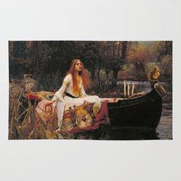 The Lady of Shallot - John William Waterhouse Rug