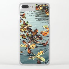 Leaves and the Lake Clear iPhone Case