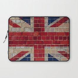 UK Union Flag on a brick wall Laptop Sleeve