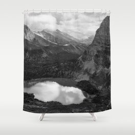Grinnell Lake from the Trail No. 2 bw Shower Curtain