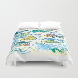Funny fishes Duvet Cover