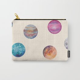 Cute naive simple Planet patterns Carry-All Pouch