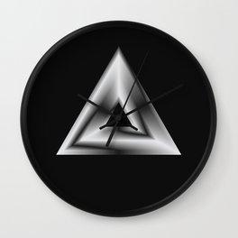 Metallic Shapes Wall Clock