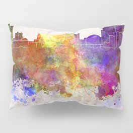 Reno skyline in watercolor background Pillow Sham