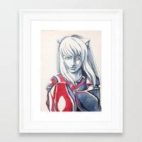 inuyasha Framed Art Prints featuring Hanyou- InuYasha Fanart by Audrey Bocchini