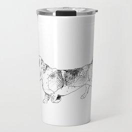 Basset Hound Ink Drawing Travel Mug