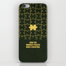Lab No. 4 -Even The Hardest Puzzles Have A Solution Corporate Start-Up Quotes iPhone Skin