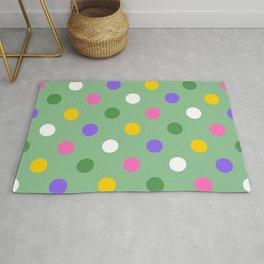 Large colorful spring polka dots Rug