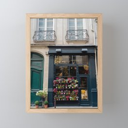 Flower Shop, Paris Framed Mini Art Print