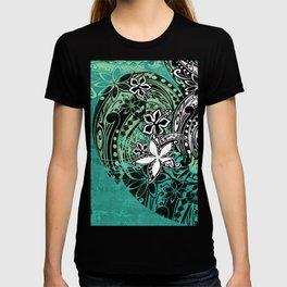 Samoan Jungle Green Tribal Grunge T-shirt