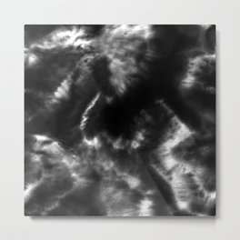 Vibrant Black and White Tie-Dye Metal Print