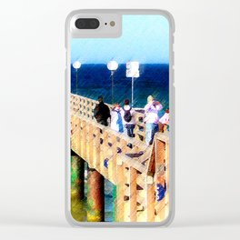Sundays at the sea Clear iPhone Case