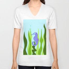 Serene Seahorse Unisex V-Neck