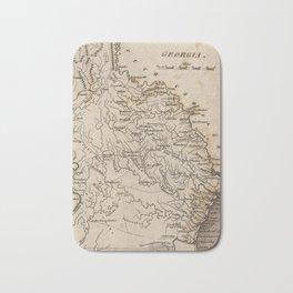 Vintage Map of Georgia (1816) Bath Mat