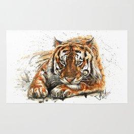Tiger watercolor Rug