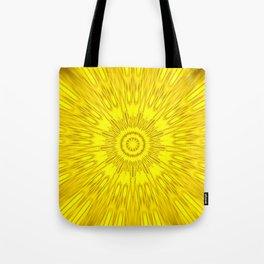 Yellow Mandala Explosion Tote Bag