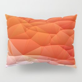 Quilted Pattern Orange Texture Abstract Pillow Sham