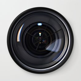 Photo lens front Wall Clock