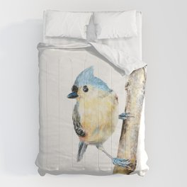 Tufted Titmouse by Teresa Thompson Comforters
