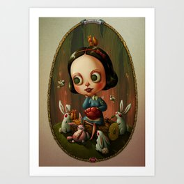 Snow White and a Heart of a Rabbit Art Print