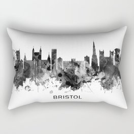 Bristol England skyline BW Rectangular Pillow
