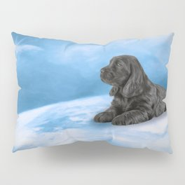 English Cocker Spaniel puppy, Drawing Pillow Sham