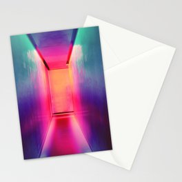 Neon Hallways Stationery Cards