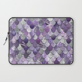 Mermaid Purple and Silver Laptop Sleeve