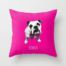 Pink Bowser Throw Pillow