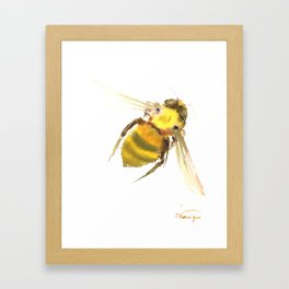 Bee, bee art, bee design Framed Art Print