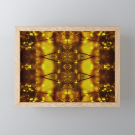 Sparkling Drops(yellow&brown) Framed Mini Art Print