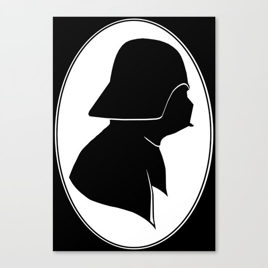 Dark Side Silhouette  Canvas Print