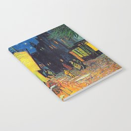 Vincent Van Gogh - Cafe Terrace at Night (new color edit) Notebook