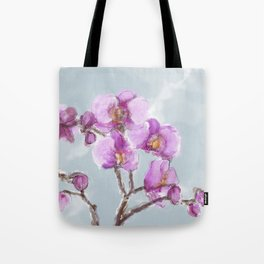 Watercolor Orchids Tote Bag