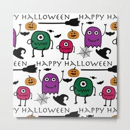 Monsters Halloween Metal Print
