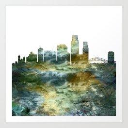 Corpus Christi Texas Skyline Art Print