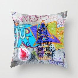 Look Both Ways Throw Pillow