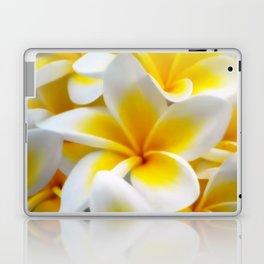 Frangipani halo of flowers Laptop & iPad Skin