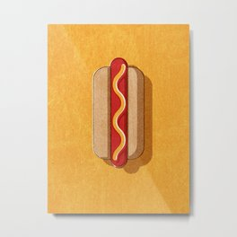 FAST FOOD / Hot Dog Metal Print