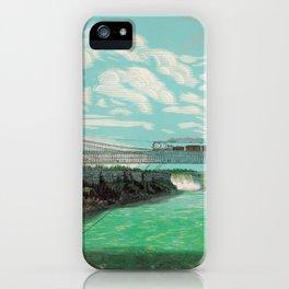 The Great International Railway Suspension Bridge and Niagara Falls - 1876 iPhone Case