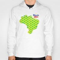 brasil Hoodies featuring Brasil 2014 by Bunhugger Design
